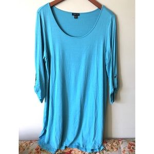 J. Jill Wearever Collection Roll-Tab Tunic Top